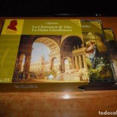 CDs de Música: OPERAS MOZART VOLUME 23 LA CLEMENZA DI TITO / LA FINTA GIARDINIERA CAJA 5 CD + 2 FOLLETOS BOX SET. Lote 135418446