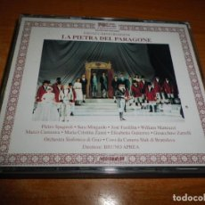 CDs de Música: LA PIETRA DEL PARAGONE ROSSINI DOBLE CD 1993 ITALIA PIETRO SPAGNOLI SARA MINGARDO 2 CD BOX SET RARO. Lote 135431706