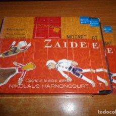 CDs de Música: ZAIDE MOZART DOBLE CD CON LIBRETO 2006 TOBIAS MORETTI DIANA DAMRAU 2 CD BOX SET RARO MICHAEL SCHADE. Lote 135432606
