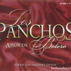 CDs de Música: LOS PANCHOS - AMOR DE BOLERO - TODOS LOS GRANDES ÉXITOS - 2XCD + DVD. Lote 135537382
