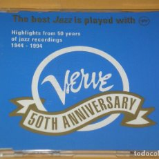 CDs de Música: VERVE: 50TH ANNIVERSARY: HIGHLIGHTS 50 YEARS OF JAZZ RECORDINGS 1944 - 1994, 12 TRACKS, CD ERCOM. Lote 135618698