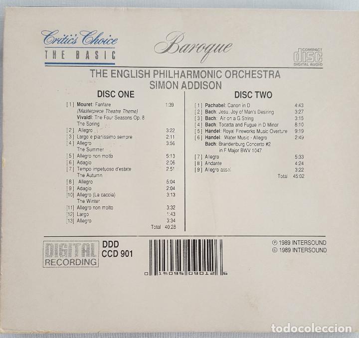 CDs de Música: EXCELENTE. THE BASIC BAROQUE. 2 CD. ENGLISH PHILARMONIC ORCHESTRA. CRITICS CHOICE. THE BASIC - Foto 2 - 135740527