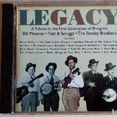 CDs de Música: LEGACY - A TRIBUTE TO THE FIRST GENERATION OF BLUEGRASS - CD. SUGAR HILL RECORDS. AÑO 1997. Lote 135815146