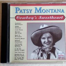 CDs de Música: PATSY MONTANA - COWBOY'S SWEETHEART - CD. KING RECORDS. AÑO 1996. Lote 135822546