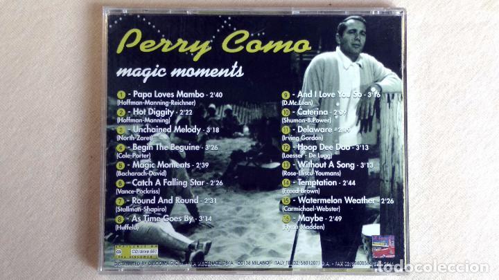 CDs de Música: Perry Como - Magic Moments - CD. Discomagic. Año 1994 - Foto 3 - 135828058