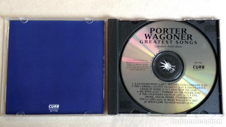 CDs de Música: PORTER WAGONER - GREATEST SONGS-Legendary Artist Series - CD. Curb Records. Año 1995 - Foto 2 - 135836550