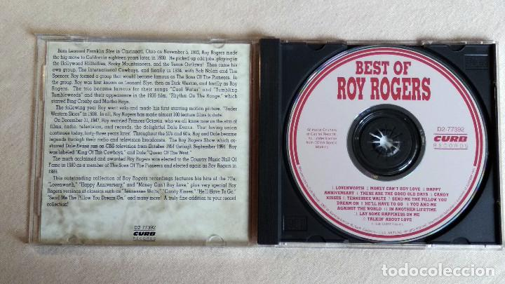 CDs de Música: BEST OF ROY ROGERS - CD. CURB Records. Año 1990 - Foto 2 - 135839474