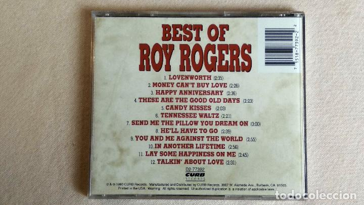 CDs de Música: BEST OF ROY ROGERS - CD. CURB Records. Año 1990 - Foto 3 - 135839474