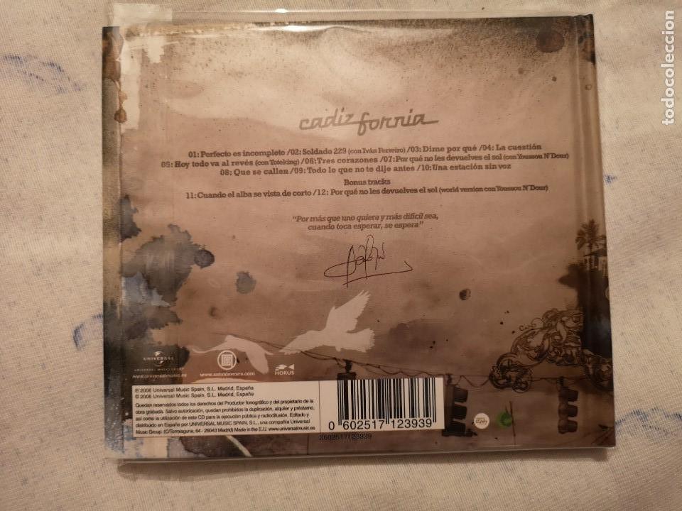 CDs de Música: PEDIDO MÍNIMO 5€ LIBRO CD ANTONIO OROZCO CADIZFORNIA EDICIÓN ESPECIAL - Foto 2 - 135841766