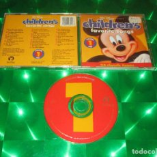 CDs de Música: CHILDREN'S FAVORITE SONGS VOLUME 1 ( ONE - I ) - CD - 60605-7 - WALT DISNEY RECORDS. Lote 136049722