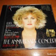 CDs de Música: EDITA GRUBEROVA THE ANNIVERSARY CONCERT CD ALBUM DEL AÑO 1999 JAPON TOKYO ORCHESTRA 15 TEMAS. Lote 136067414