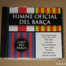 CDs de Música: CANT DEL BARÇA - EL CANT DELS CAMPIONS - HIMNE OFICIAL DEL BARÇA. Lote 136127798