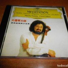 CDs de Música: MISCHA MAISKY PAVEL GILILOV MEDITATION CD ALBUM 1990 ALEMANIA CONTIENE 18 TEMAS LETRAS CHINAS RARO. Lote 136133778