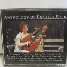 CDs de Música: ANTHOLOGY OF ENGLISH FOLK - 5 X CD - BRASS MONKEY, NIC JONES..... 2006 - EX+/VG+. Lote 136154426