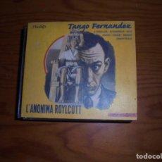 CDs de Música: TANGO FERNANDEZ. L´ANONIMA ROYLCOTT. PLASTIC RECORDS, 2000. CD. IMPECABLE (#). Lote 136204398