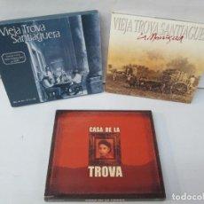 CDs de Música: CASA DE LA TROVA. VIEJA TROVA SANTIAGUERA DOMINO. VIEJA TROVA SANTIAGUERA LA MANIGUA. VER FOTOS. Lote 136289142