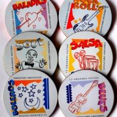 CDs de Música: 6 CD MUSICA 12 GRANDES ÉXITOS, VERSIONES ORIGINALES. Lote 136297390