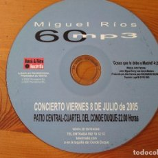 CDs de Música: MIGUEL RÍOS 60 MP3 COSAS QUE LE DEBO A MADRID CD SINGLE PROMO ROCK & RIOS 2005. Lote 136303110