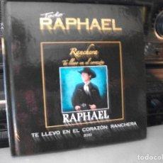 CDs de Música: TODO RAPHAEL TE LLEVO EN EL CORAZON RANCHERA 2010 CD LIBRO NUEVO¡¡. Lote 136390698