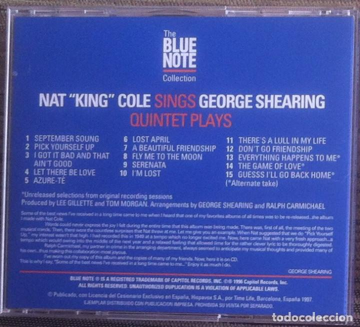 CDs de Música: Nat King Cole sings George Shearing plays - CD 1997 The Blue Note Collection - Foto 2 - 136406130