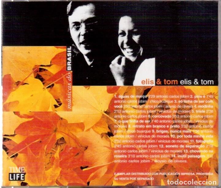 CDs de Música: ELIS & TOM. TIME LIFE. MÚSICAS DO BRASIL. POLYGRAM RECORDINGS. VER FOTOGRAFÍAS. - Foto 2 - 136440074
