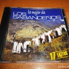 CDs de Música: LOS SABANDEÑOS LO MEJOR DE CD ALBUM DEL AÑO 1988 CONTIENE 17 TEMAS MUSICA ISLAS CANARIAS RARO. Lote 136629154