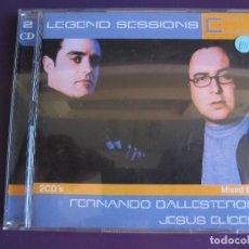CDs de Música: LEGEND SESSIONS DOBLE CD 2002 - FERNANDO BALLESTEROS + JESUS ELICES - TRANCE TECHNO . Lote 136670530