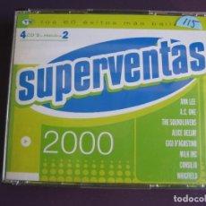 CDs de Música: SUPERVENTAS 2000 4 CD'S - 60 EXITOS PROGRESIVE TRANCE- HOUSE - MAKINA - TECHNO -. Lote 268600329