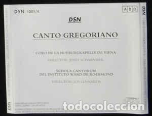 CDs de Música: CANTO GREGORIANO 4 cds - Foto 2 - 136740478