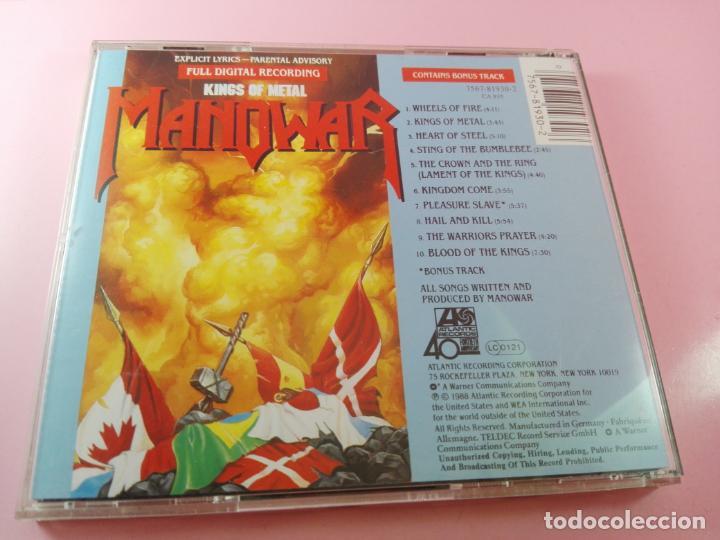 CDs de Música: CD-MANOWAR-KINGS OF METAL-1988-10 TEMAS-VER FOTOS - Foto 5 - 136764682
