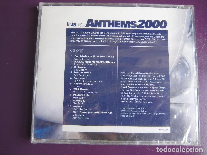 THIS IS ANTHEMS 2000 CD - HOUSE TECHNO GARAGE TRANCE