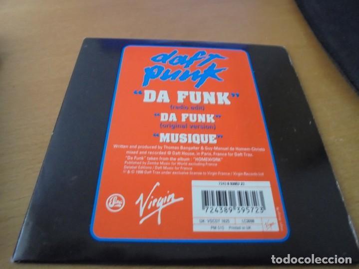 RAR SINGLE CD  DAFT PUNK  DA FUNK  3 TRACKS  ED  CARTÓN  VIRGIN  MADE IN UK