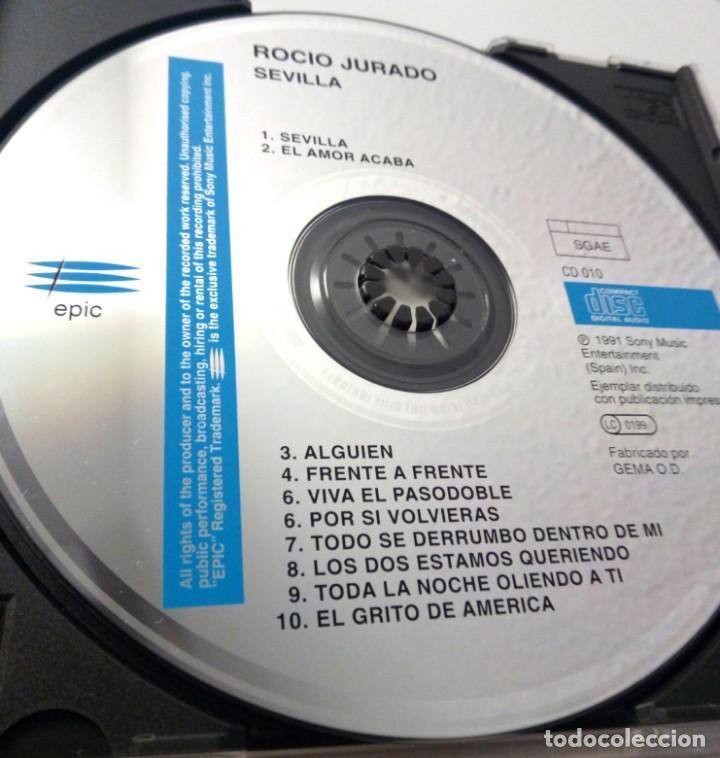 CDs de Música: ROCIO JURADO - SEVILLA / CD / 1991 / VERSION SIN CODIGO DE BARRAS / CERCA DE NUEVO - Foto 4 - 137153398