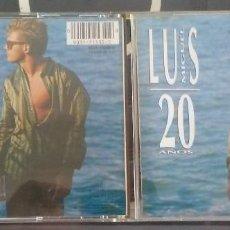 CDs de Música: LUIS MIGUEL 20 AÑOS WEA 1990 LIBRETO CON LETRAS 10 TEMAS. Lote 137209590