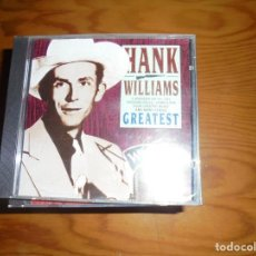 CDs de Música: HANK WILLIAMS. GREATEST. GOLDIES, 1991. EDT. PORTUGAL. CD. IMPECABLE (#). Lote 137221670