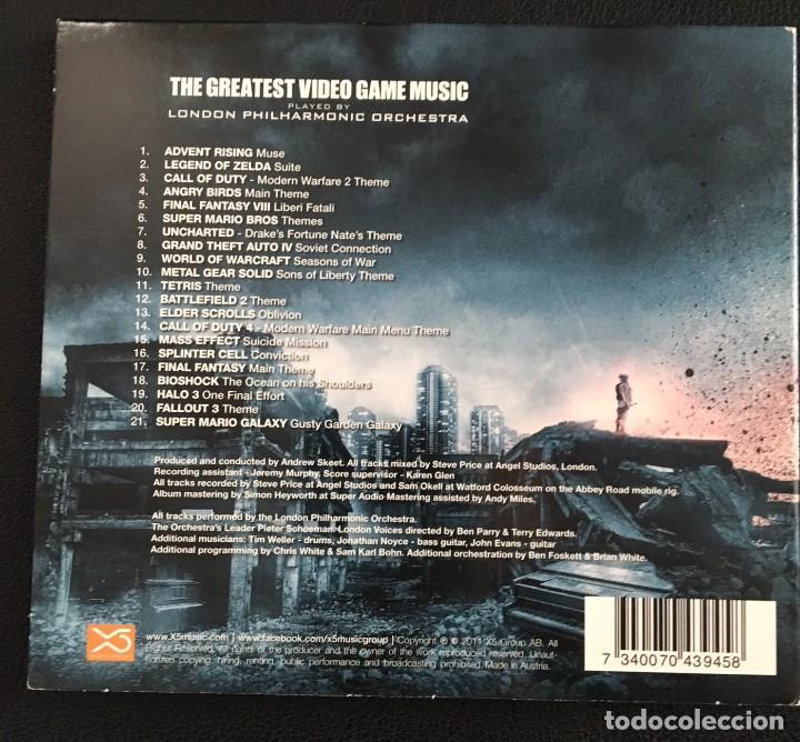 CDs de Música: THE GREATEST VIDEO GAME MUSIC - LONDON PHILARMONIC ORCHESTRA - Foto 3 - 137252450