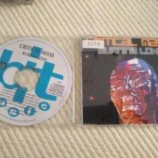 CDs de Música: SINGLE CD PROMOCIONAL PROMO - CRITICAL MASS - BURNING LOVE CD SINGLE BIT MUSIC - RARO. Lote 137297926