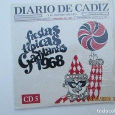 CDs de Música: CD DE CARNAVAL DE CADIZ LOTE DE 5 CD CON PRECINTO ORIGINAL 1 AL 5 FIESTAS TIPICAS GADITANAS 1968. Lote 137566310