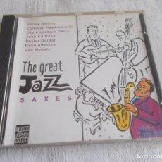 CDs de Música: THE GREAT JAZZ SAXES. Lote 137569098