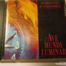 CDs de Música: CD RODRIGO LEAO & VOX ENSEMBLE AVE MUNI LUMINAR AÑO 1993 1995. Lote 137579934