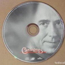 CDs de Música: CD MUSICA CANSIONES JUAN MANEL MANUEL SERRAT SIN CAJA ORIGINAL CANCIONES. Lote 137699646