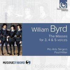 CDs de Música: WILLIAM BYRD - MISAS PARA 3,4 & 5 VOCES (CD) PRO ARTE SINGERS, PAUL HILLIER. Lote 137759550