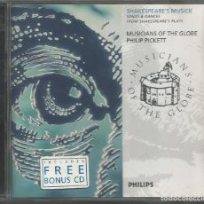 CDs de Música: SHAKESPEARE´S MUSICK / MUSICANS OF THE GLOBE. PICKETT /CD (REF.02). Lote 137815762
