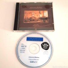 CDs de Música: CD - JOHANNES BRAHMS - SONATAS PARA VIOLOCELO Y PIANO. Lote 137824680