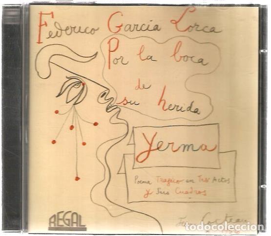 CD FEDERICO GARCIA LORCA : YERMA ( POEMA TRAGICO EN TRES ACTOS ) CUBIERTA DE JEAN COCTEAU (Música - CD's Otros Estilos)