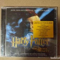 CDs de Música: 2 CD DOBLE MUSICA BSO HARRY POTTER Y LA CAMARA SECRETA EDICIÓN LIMITADA CD-ROM. Lote 137876794