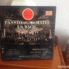 CDs de Música: PASSIÓ SEGONS ST.MATEU - (J.S.BACH) ORFEÓ CATALÀ (2 DISCOS VINILO). Lote 137918346