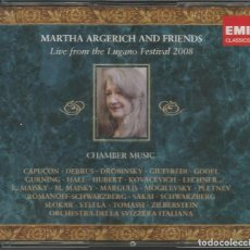 CDs de Música: MARTHA ARGERICH AND FRIENDS. FESTIVAL LUGANO 2.008 / 3 CD´S (REF.119). Lote 137934950