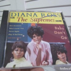 CDs de Música: DIANA ROSS & THE SUPREMES – BABY DON'T GO. Lote 138159638
