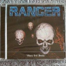CDs de Música: RANGER - WHERE EVIL DWELLS CD NUEVO Y PRECINTADO - SPEED METAL HEAVY METAL. Lote 138259550